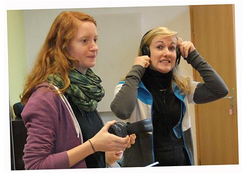 Johanna Zeigermann und Jenny Link im Studio