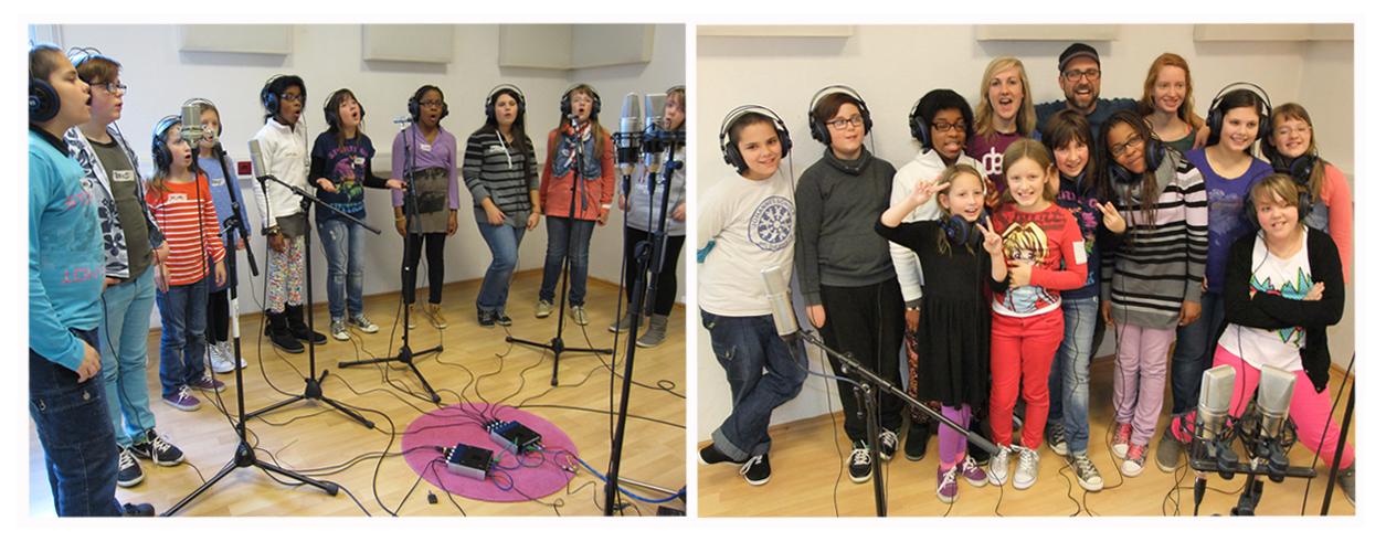 Sprecher und Sänger im Studio